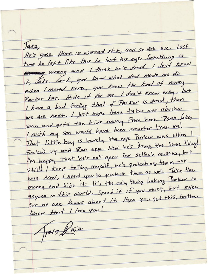 Letter from Travis